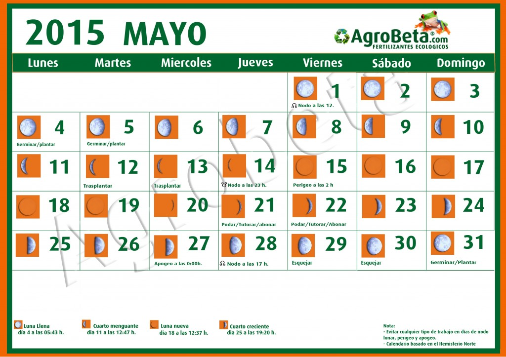 Calendario lunar para mayo de 2015 blog de for Calendario lunar mayo