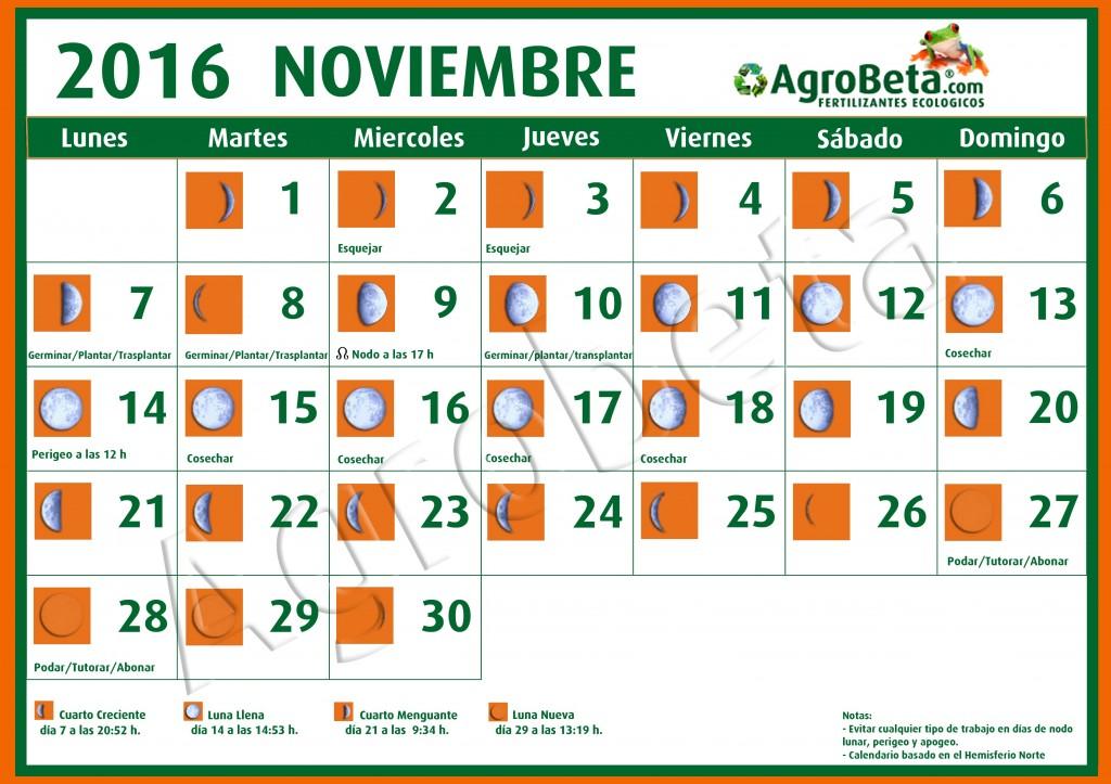 Calendario lunar noviembre 2016 blog de for Calendario lunar noviembre 2016
