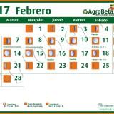 cALENDARIO 2017 febrero