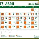 2017 ABRIL Calendario Lunar