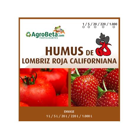 HUMUS DE LOMBRIZ ROJA CALIFORNIANA